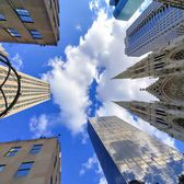 Rockefeller Center and St. Patrick's Cathedral, Midtown, Manhattan