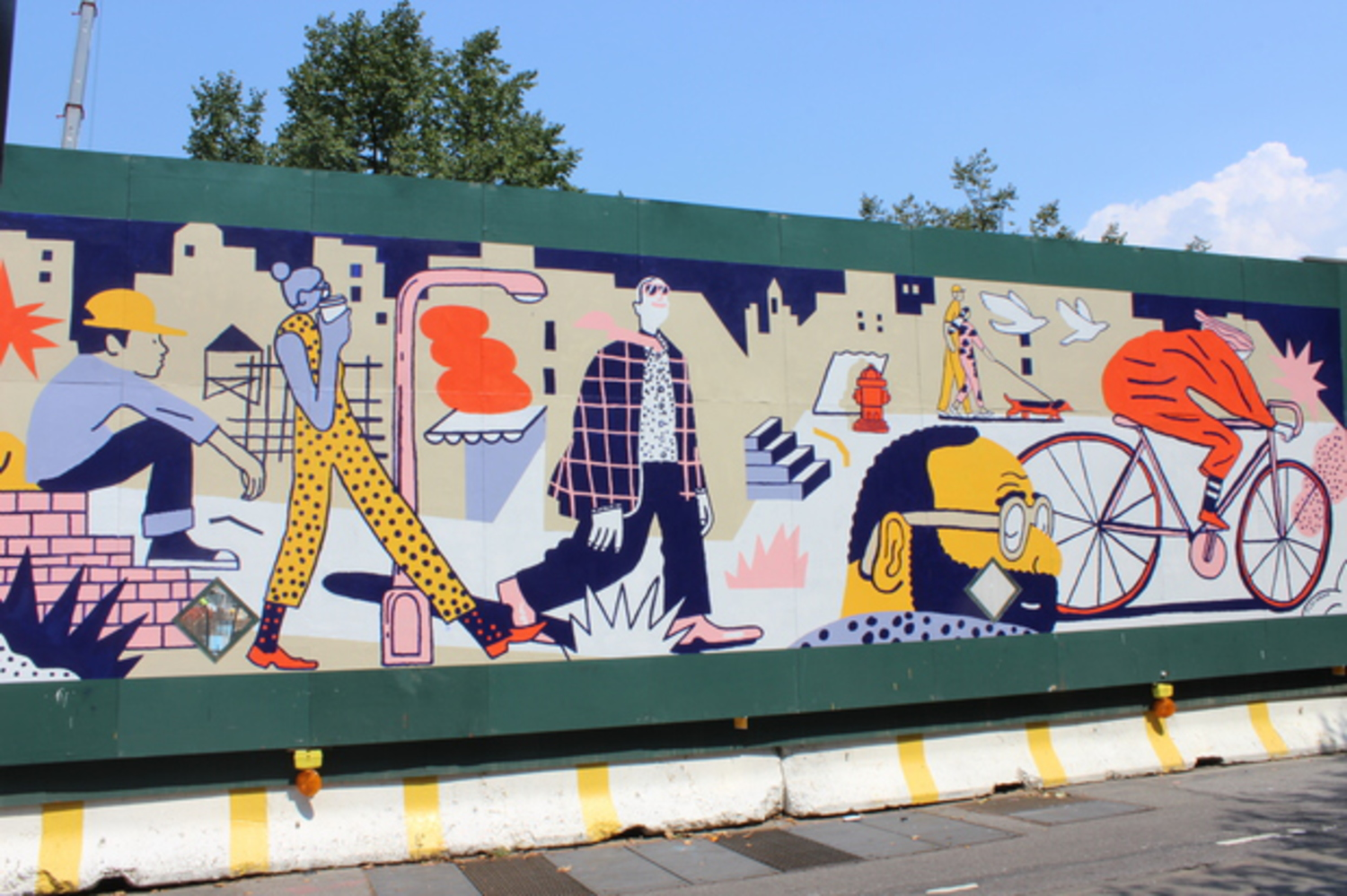 This mural at the corner of Dean Street and Carlton Avenue was painted by Josh Cochran.
