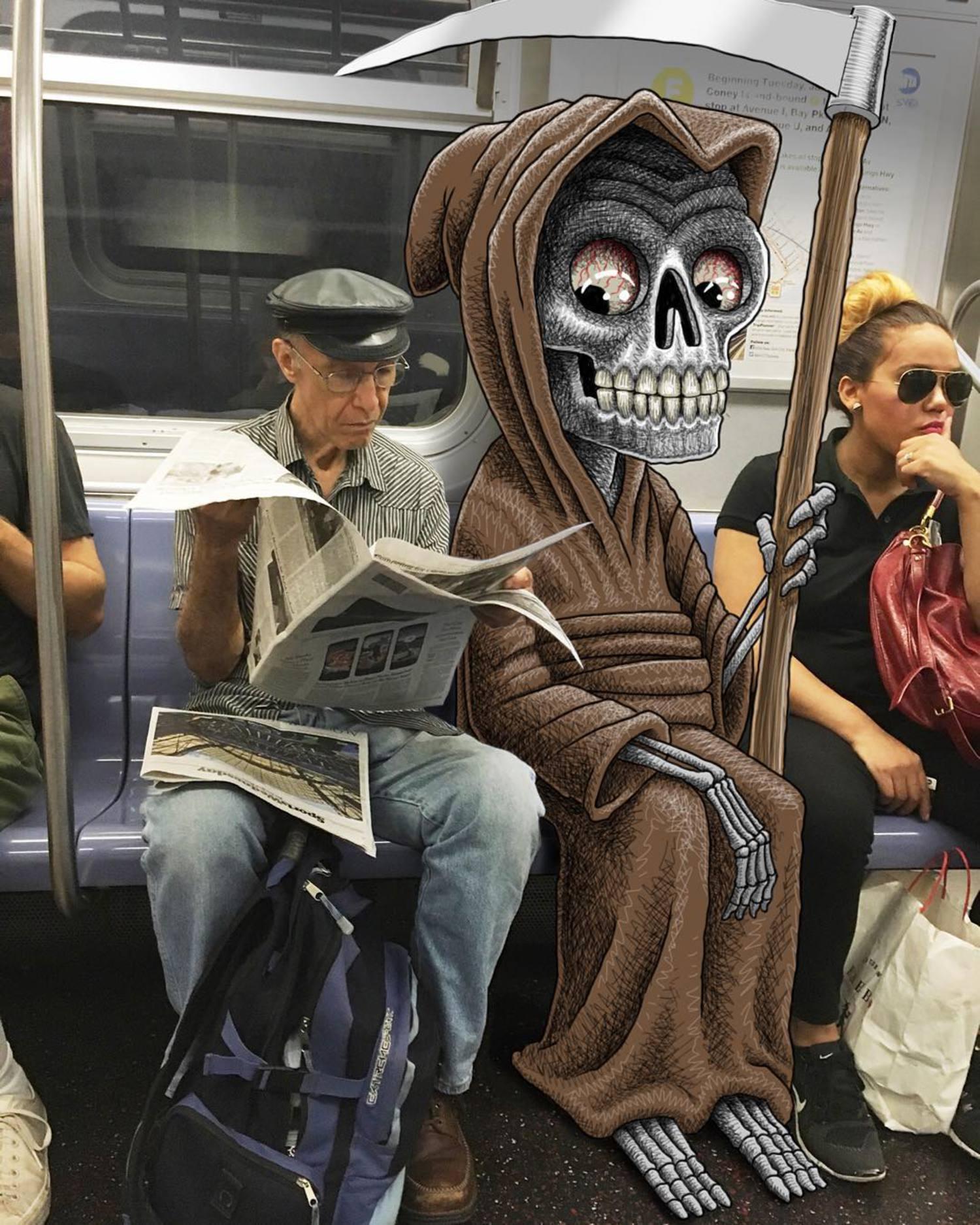 #subwaydoodle #subway #doodle #swd #nyc #printisalmostdead #longliveprint
