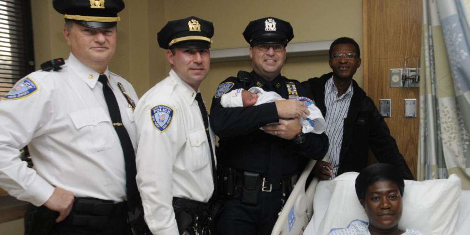 Transit police deliver first baby at new WTC Oculus hub