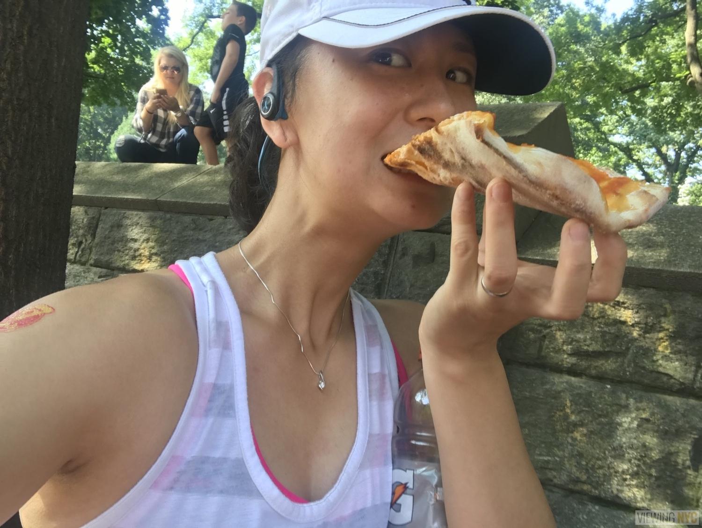 NYC Pizza Run 2018 | Mid-race slice