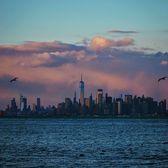 Sunset Over Manhattan Skyline from Staten Island