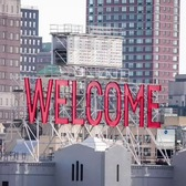 New 'Welcome' message replaces Brooklyn's iconic 'Watchtower' sign