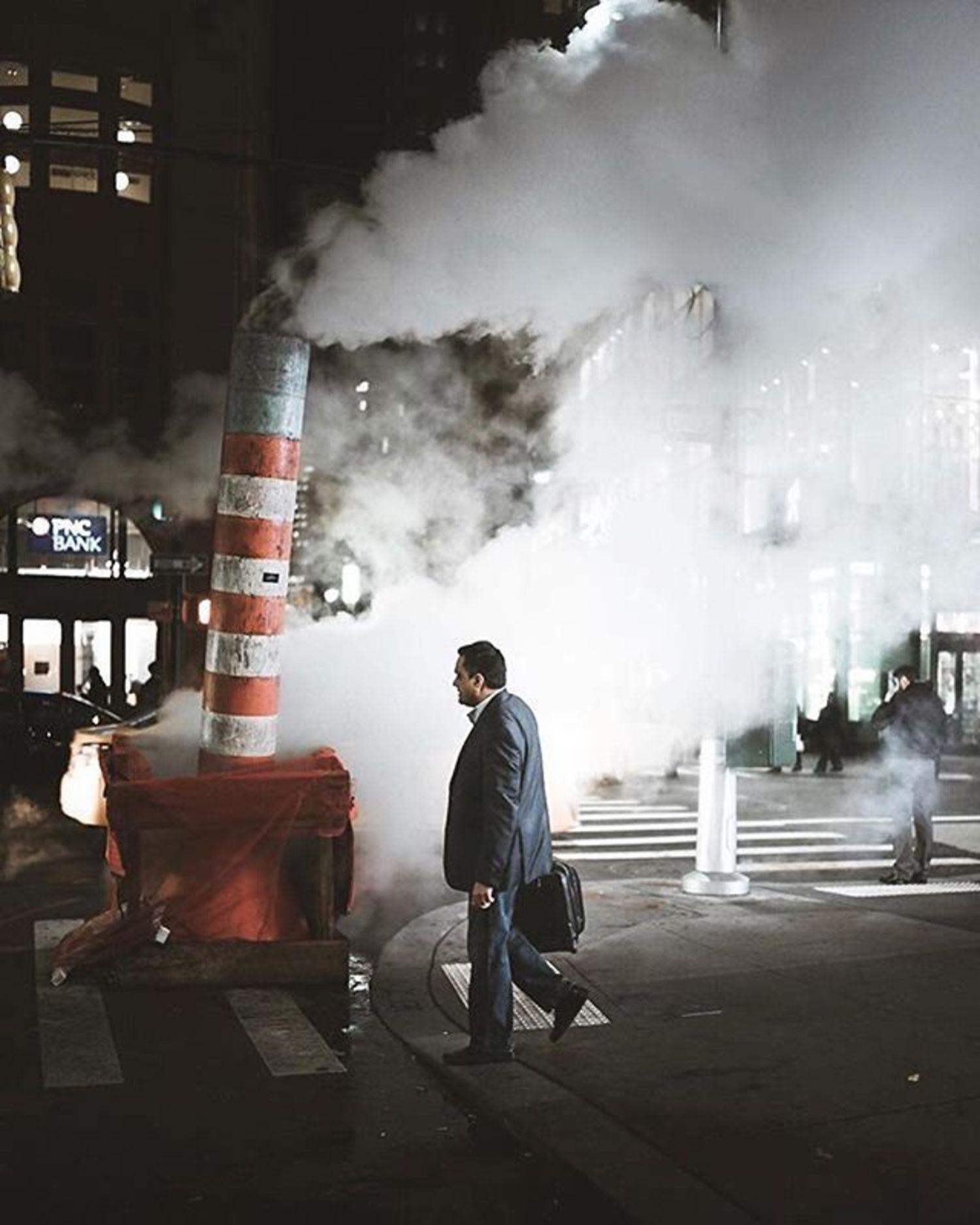 New York, New York. Photo via @arin.nyc #viewingnyc #newyork #newyorkcity #nyc #steam #streetphotography