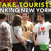 Fake Tourists Pranking New Yorkers - Dave and Ethan