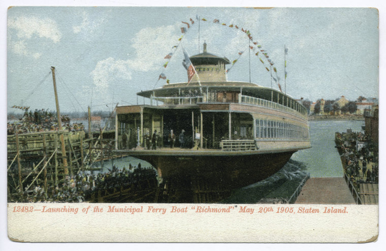 Launching of the Municipal Ferry Richmond on May 20th 1905.