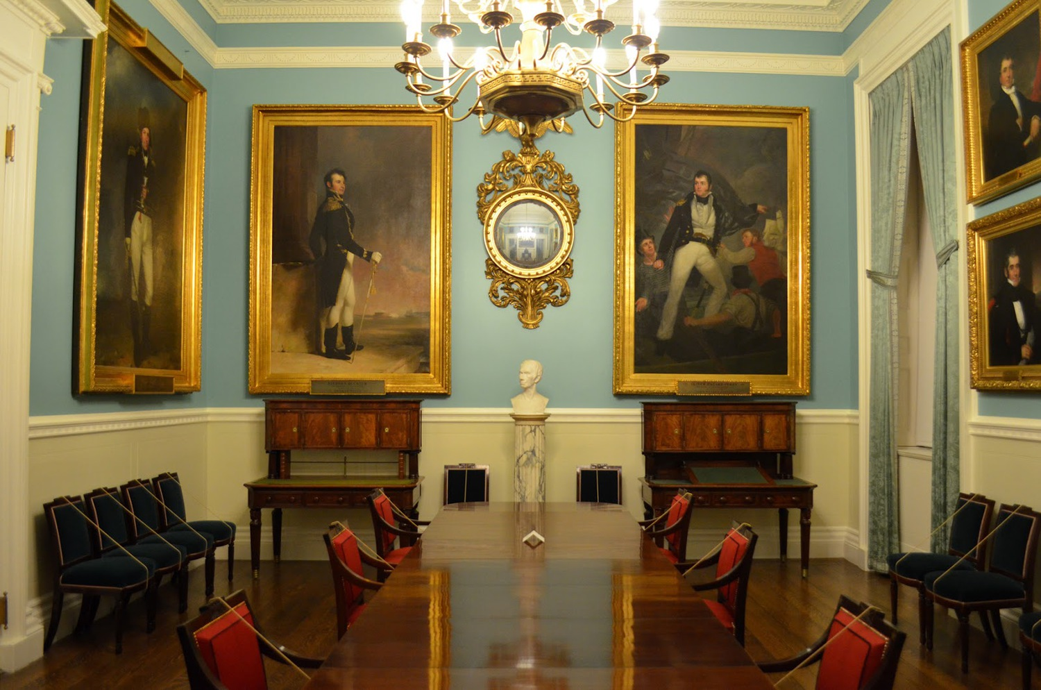 The room holds a large portion of the of the building's oil portrait collection (which is estimated at a total of $100 million)