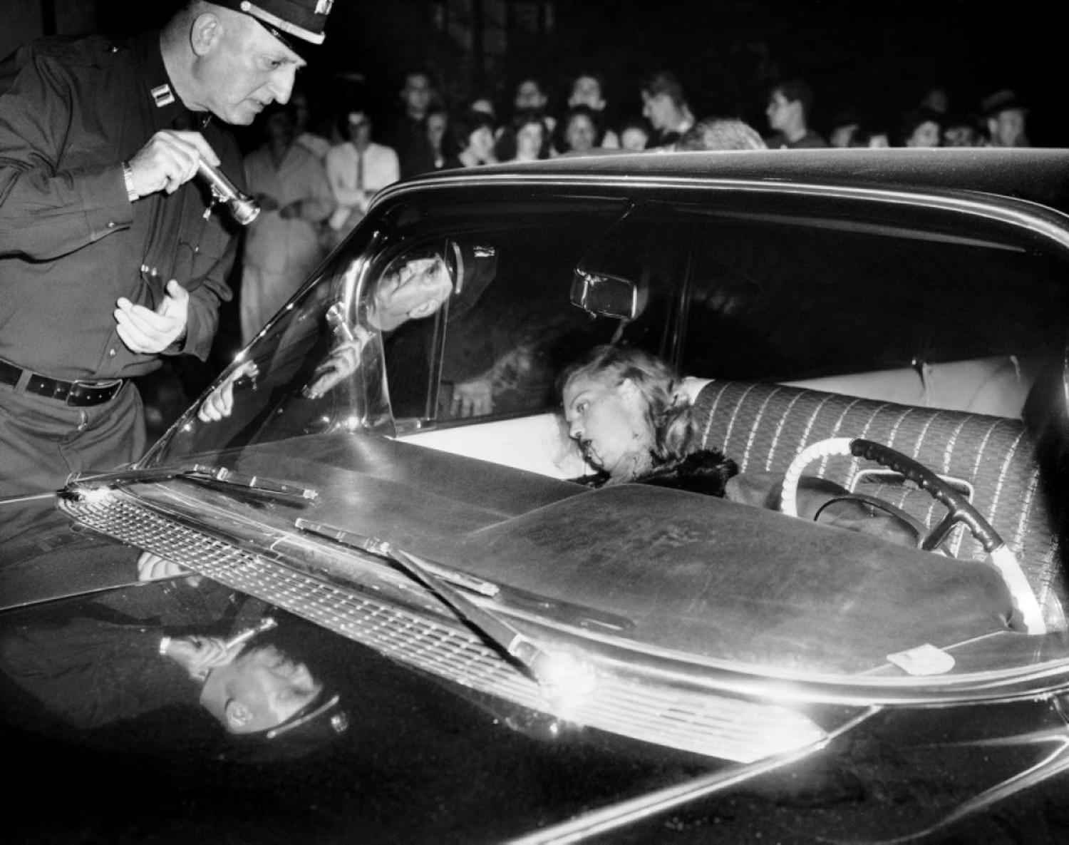 Mob Moll, 1959: In the end, the mob moll suffered her own unhappily ever after when she was found shot to death in the front seat of a black Cadillac with mobster Little Augie Pisano in 1959.