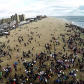 Coney Island Polar Bear club plunge NYC 2016 Drone footage