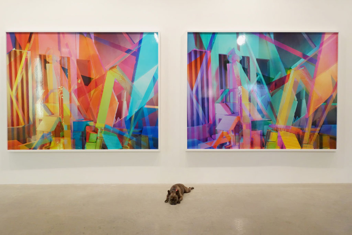 These are so colorful, I had to lie down. Ilaria Ortensi