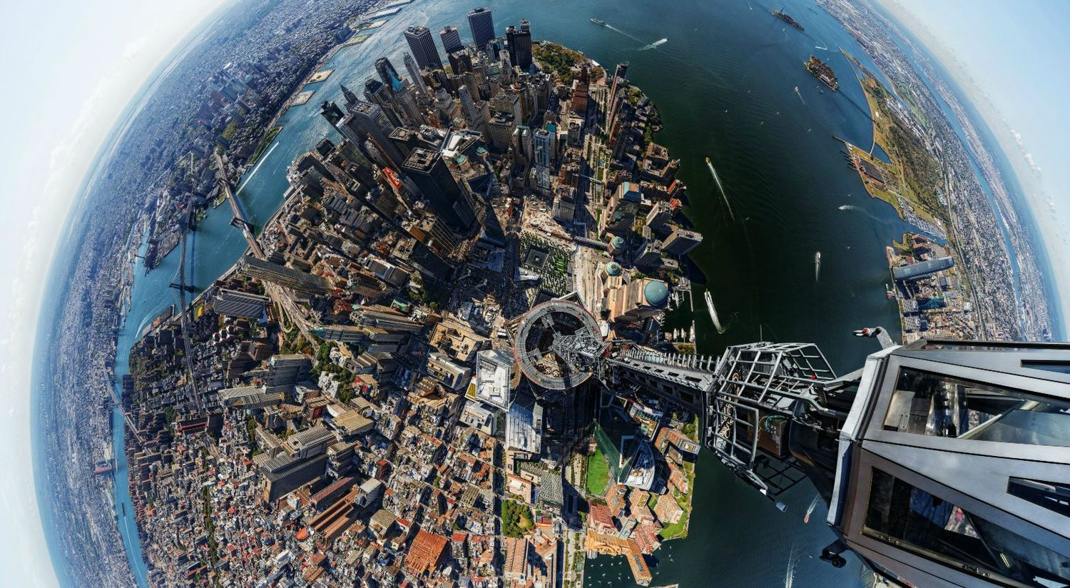 Fisheye View from the Top of 1WTC