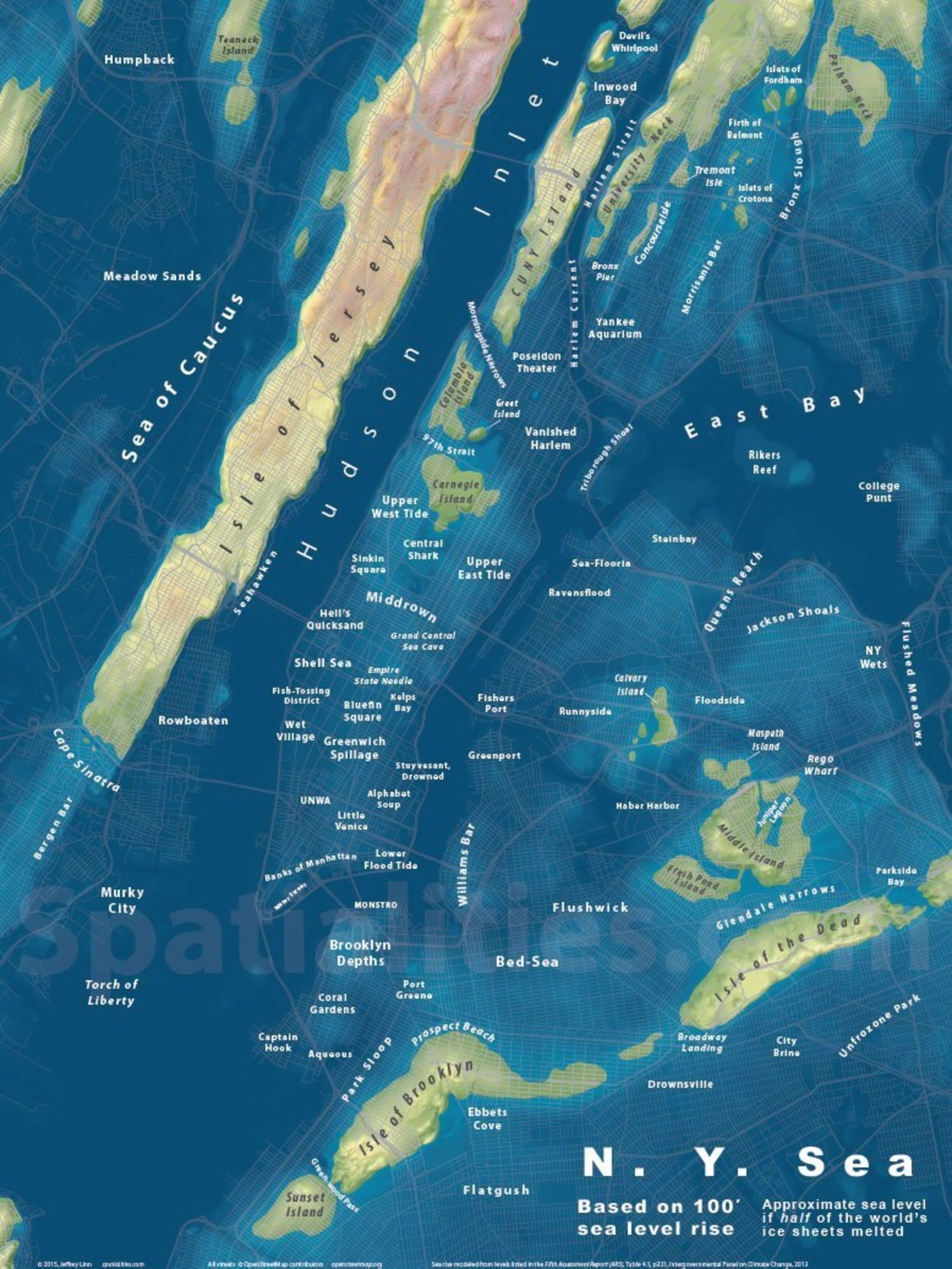 New York City Based on a 100' Sea Water Rise