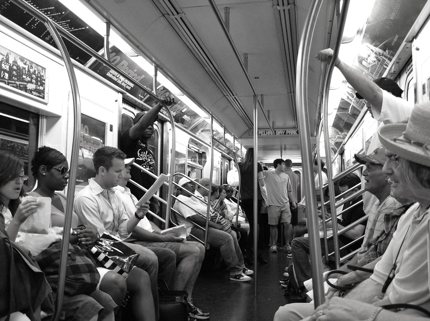 """riding the subway   <a href=""""http://www.kristinwalldesigns.com"""" rel=""""nofollow"""">www.kristinwalldesigns.com</a>"""