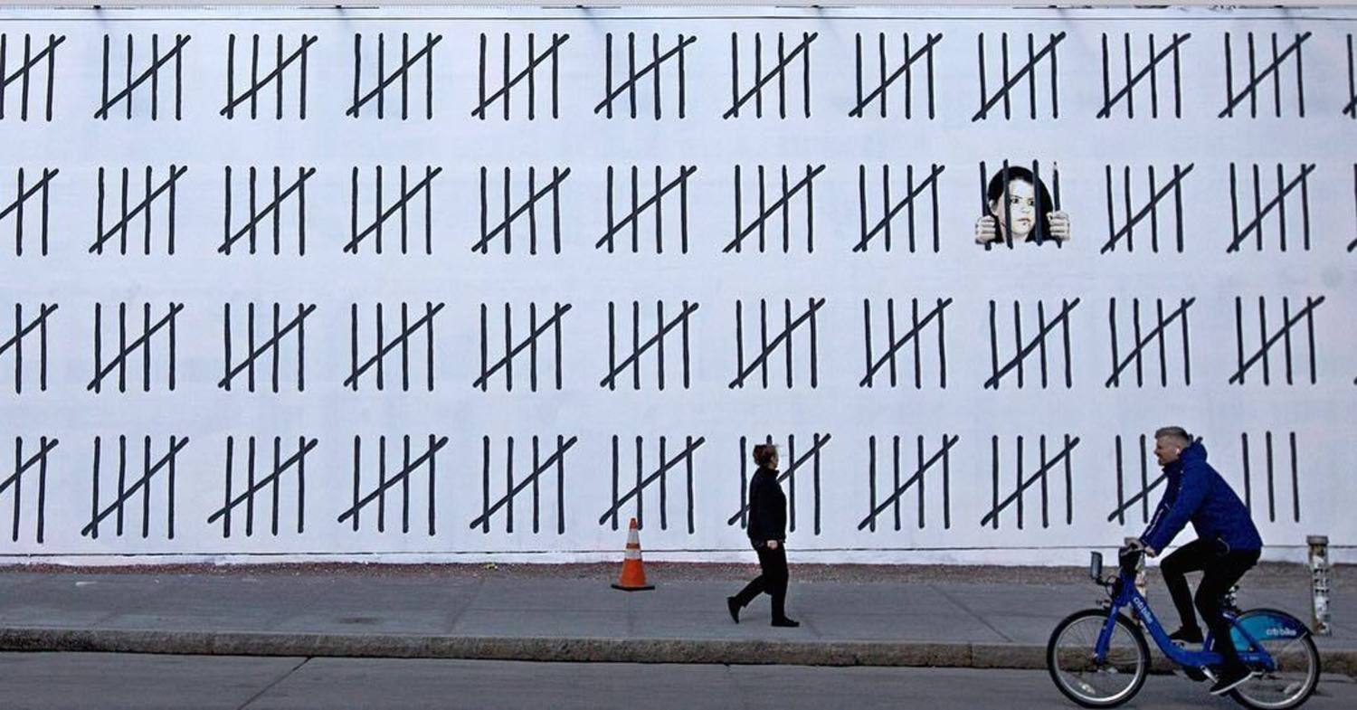 Banksy on the Bowery Art Wall