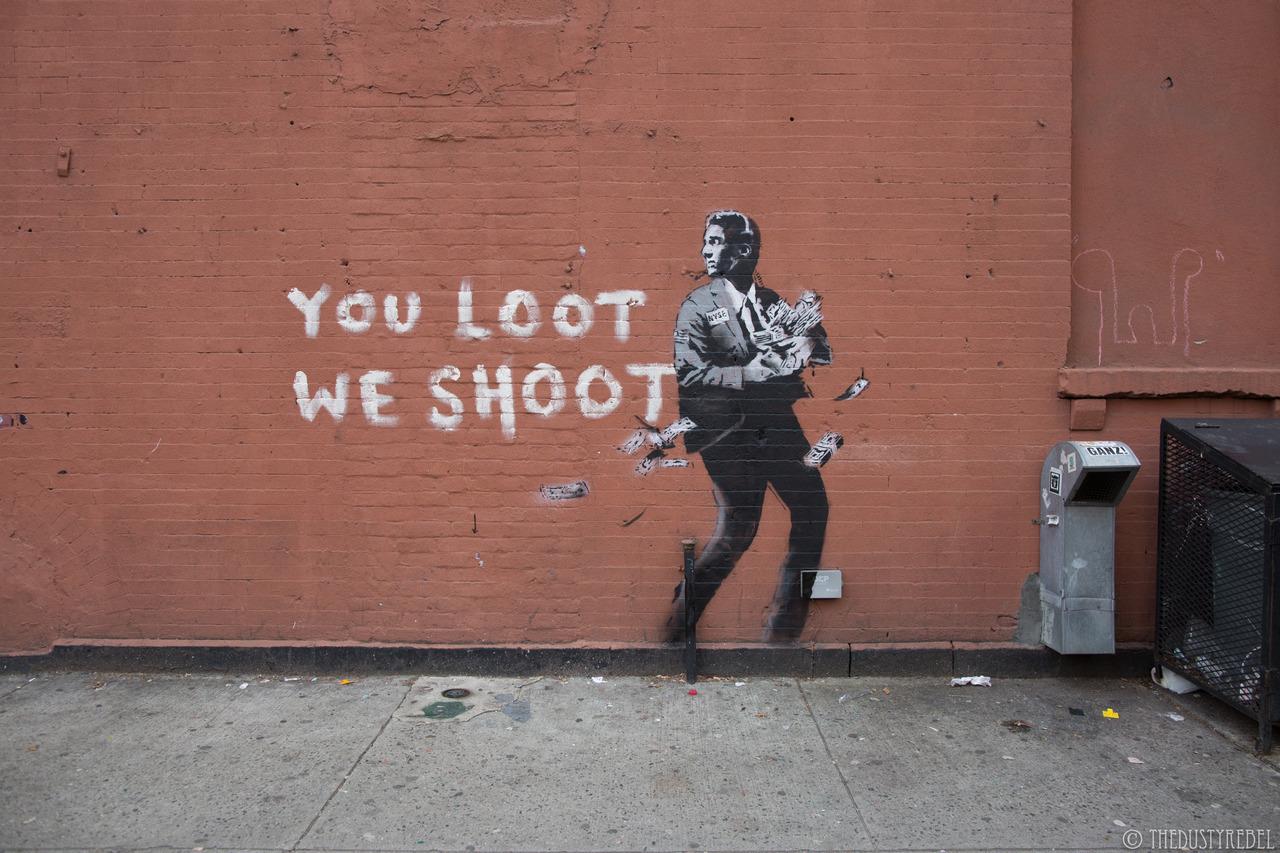 More New Banksy Street Art Appears Around New York City