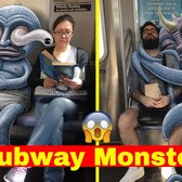 "NYC Subway ""INVADED"" by Aliens and Monsters - @subwaydoodle"