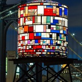 Tom Fruin's Watertower, Dumbo, Brooklyn