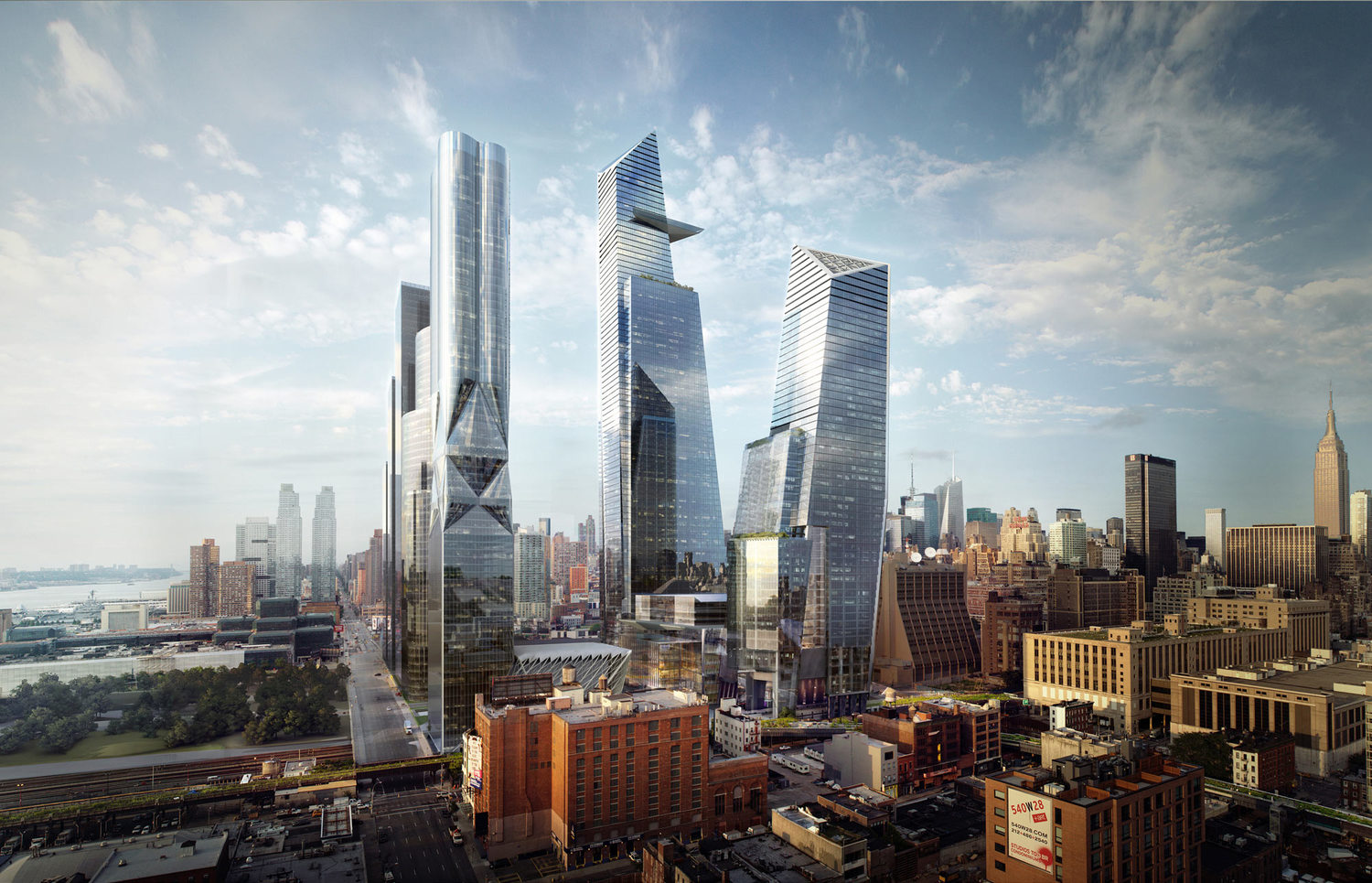 Occupying the lot bounded by 31st and 33rd streets between Ninth and Tenth avenues, Manhattan West will lie adjacent to the City's up-and-coming Hudson Yards—a 17,000-million-square-foot development spanning 28 acres (half of which will be dedicated to open public space).