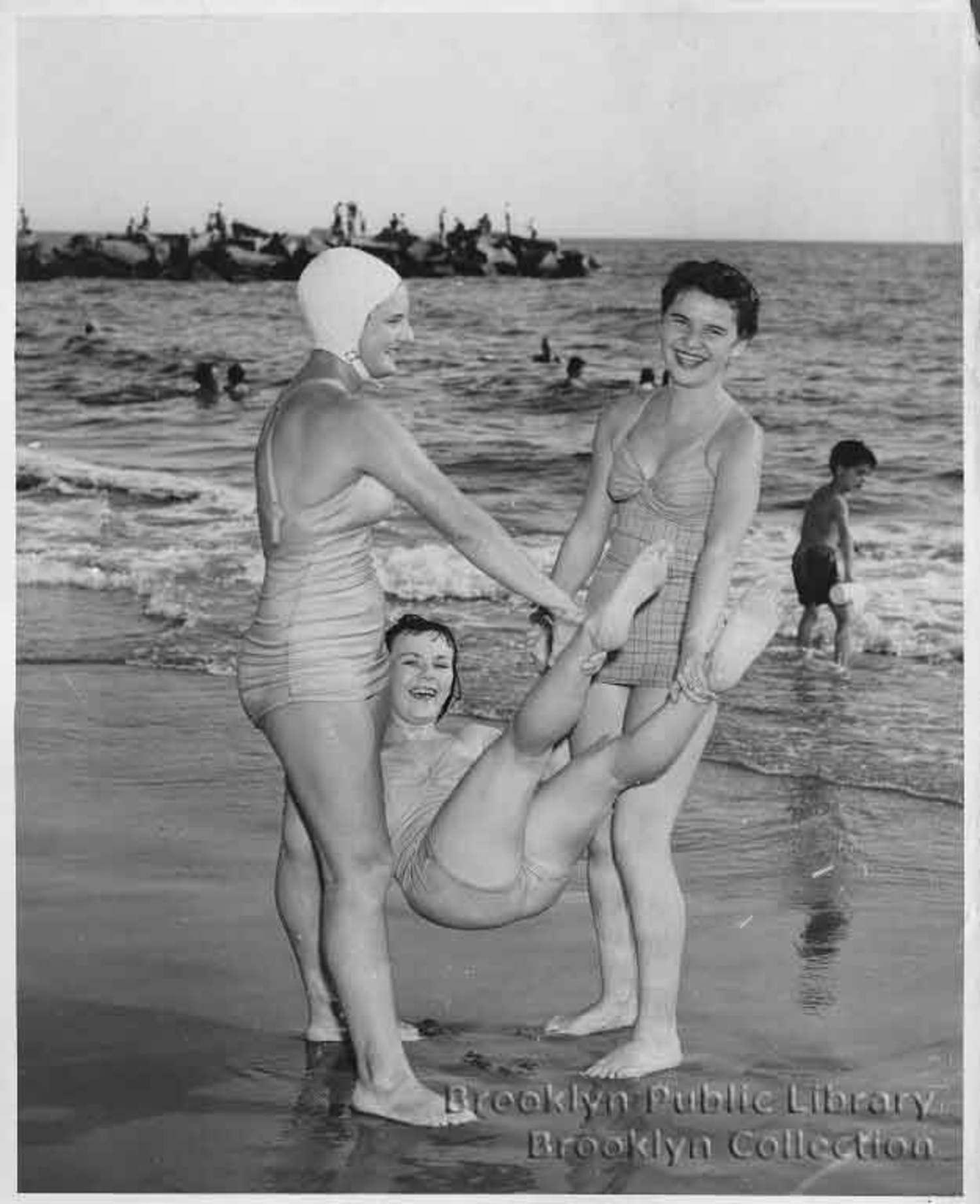 Ladies launching ladies in 1949.