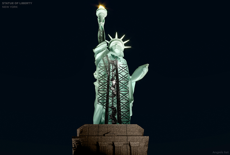 Statue of Liberty, Cutaway