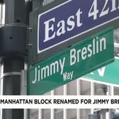 Mayor Temporarily Renames 42nd Street Jimmy Breslin Way
