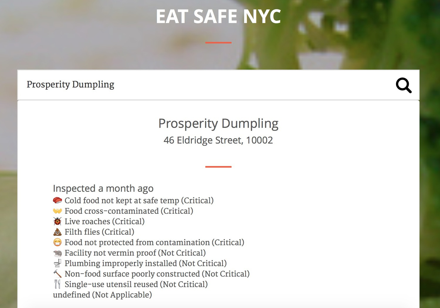 Prosperity Dumpling on Eat Safe NYC