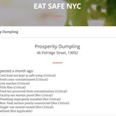 Prosperity Dumpling on Eat Safe NYC