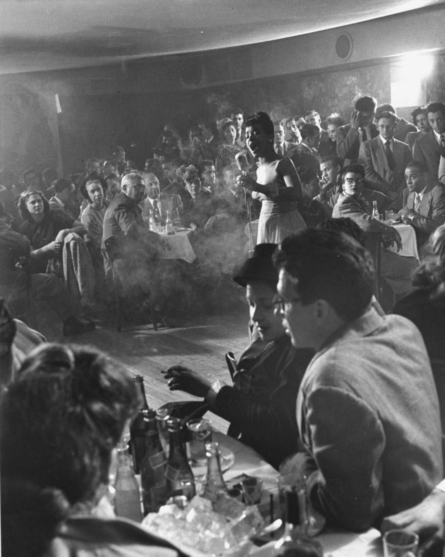 Inside Cafe Society, the first racially integrated nightclub in NYC circa early 1940s