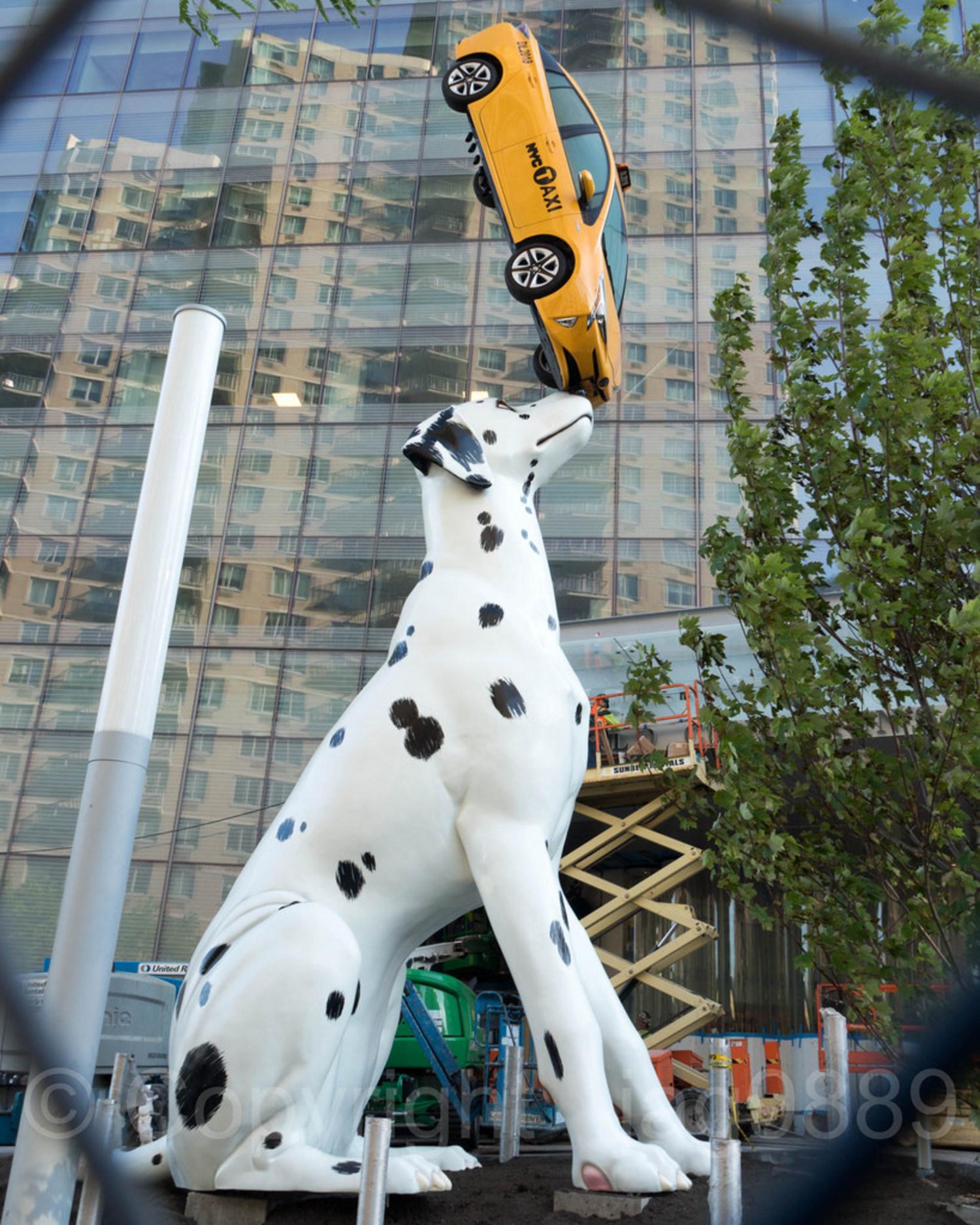 """Spot"" Sculpture (2018) by Donald Lipski, NYU Langone's Hassenfeld Childrens Hospital, New York City"