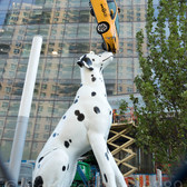 """Spot"" Sculpture (2018) by Donald Lipski, NYU Langone's Hassenfeld Childrens Hospital, New York City"