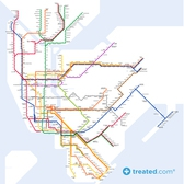 Take The Sidewalk To Work: Our New York Subway Map Of Calories
