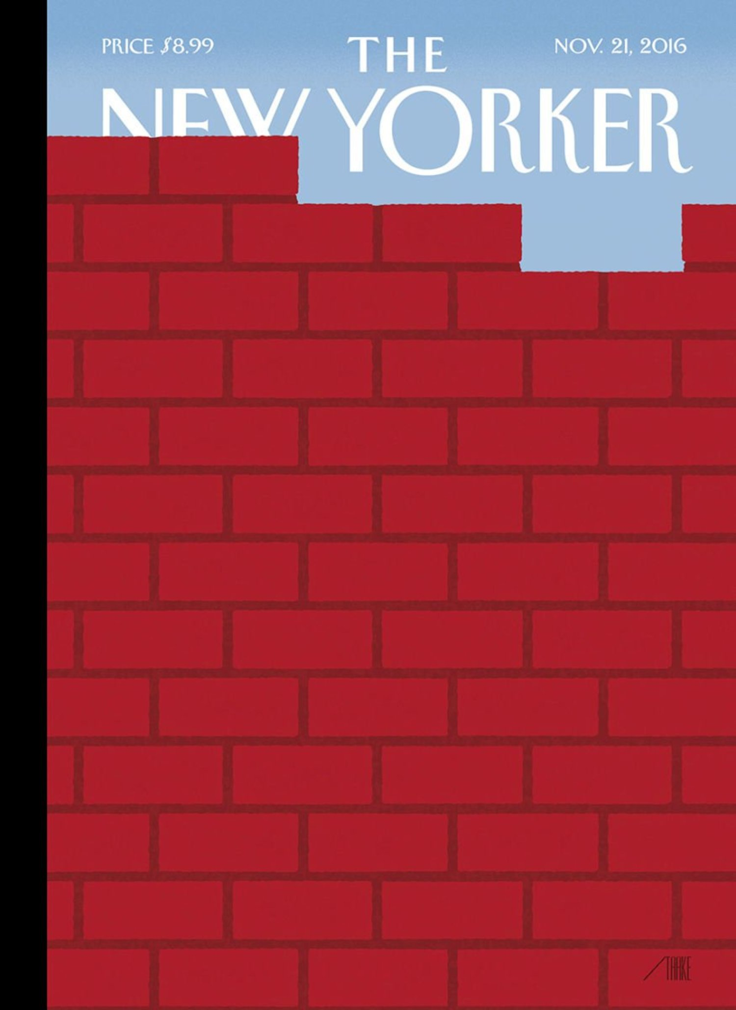 """An early look at next week's cover, """"The Wall,"""" by Bob Staake: https://t.co/f9qJvRniou https://t.co/u6RQRfQsI1"""