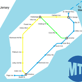 Staten Island Subway map, if every Subway Restaurant in the borough was a subway station