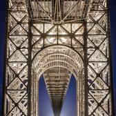 Under the George Washington Bridge, Manhattan, New York