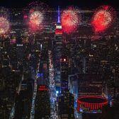 Fireworks over Midtown, Manhattan