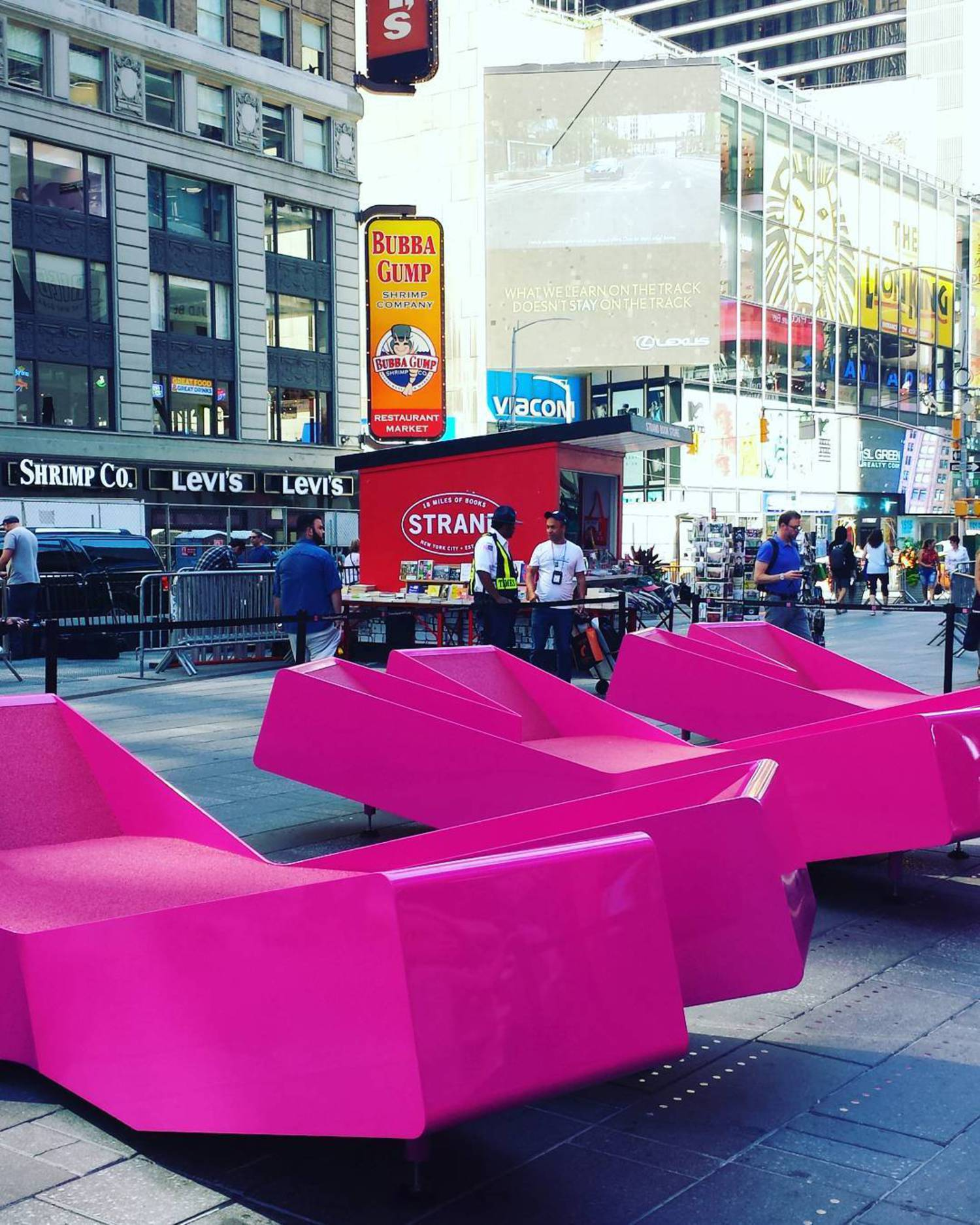 "#jmayerh's ""XXX"" installation unveiled in #NYC Times Square this morning. #TSqXXX"