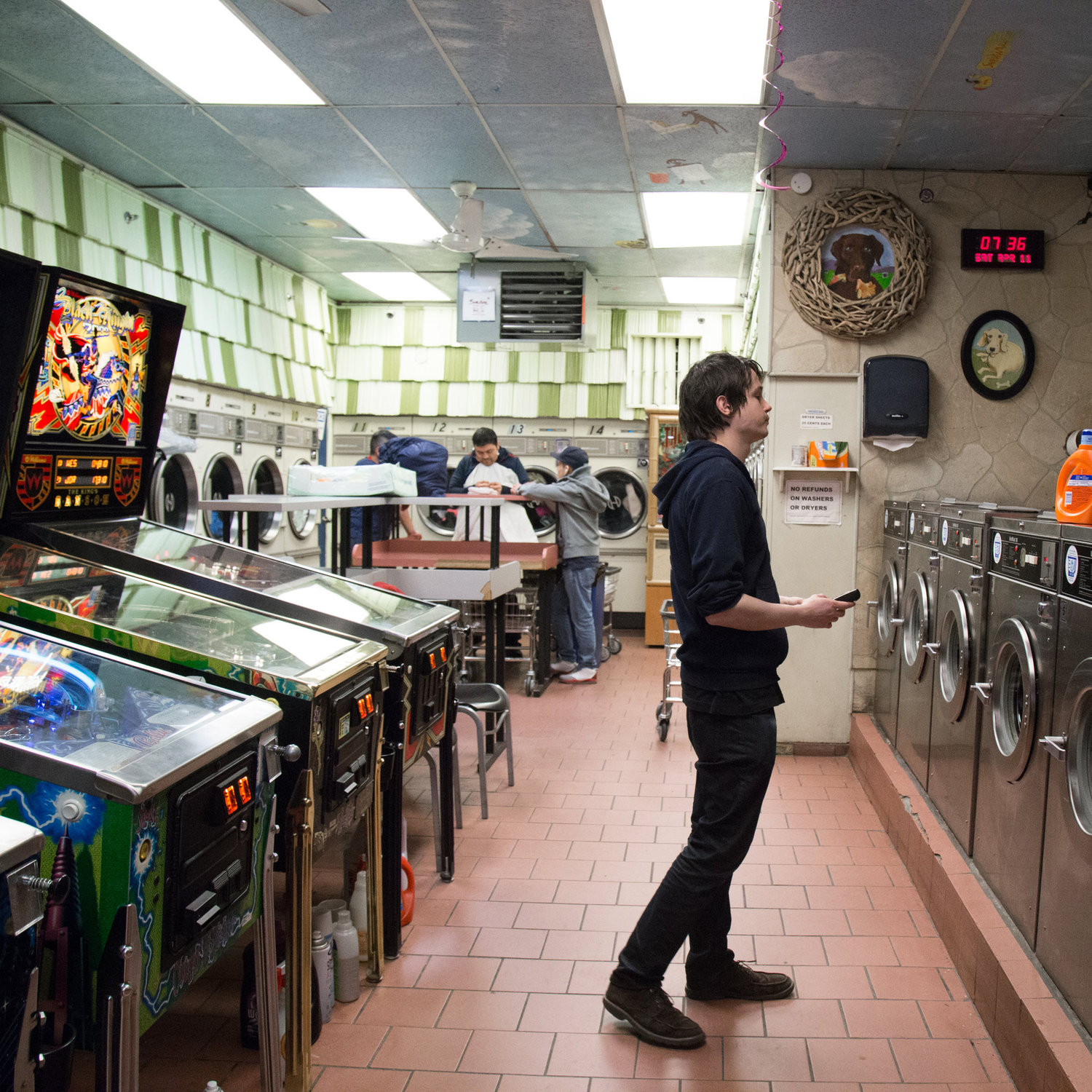 "Michael Medovoy, who runs the laundromat with his business partner Peter Rose, replaced a few washing machines with pinball machines in 2011. ""The happiest day of my life,"" Mr. Medovoy said. ""But I will say that a couple of people, for some strange reason, did not appreciate the pinball and found other laundromats."""