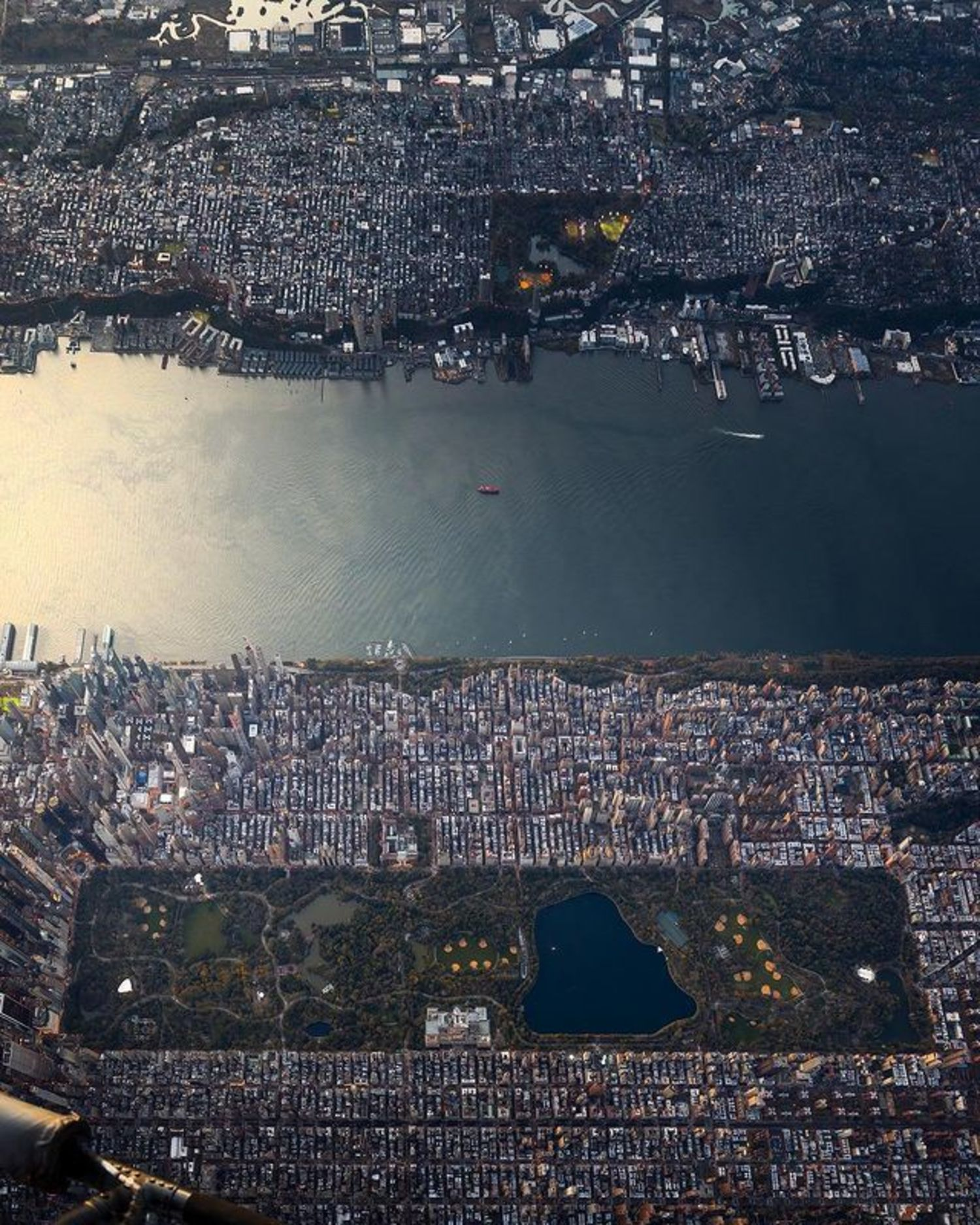 Hudson River, Upper West Side, and Central Park, New York