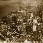 Lower Manhattan photographed from the air, with focus on Battery Park and Wall Street, May 3, 1921