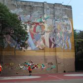 The mural and the playground