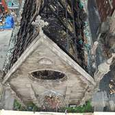 St. Sava Serbian Orthodox Cathedral after fire