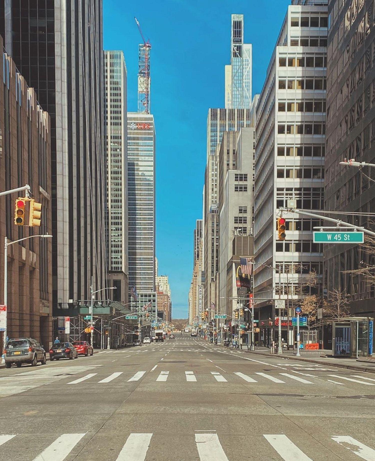 6th Avenue and 45th Street, Midtown, Manhattan