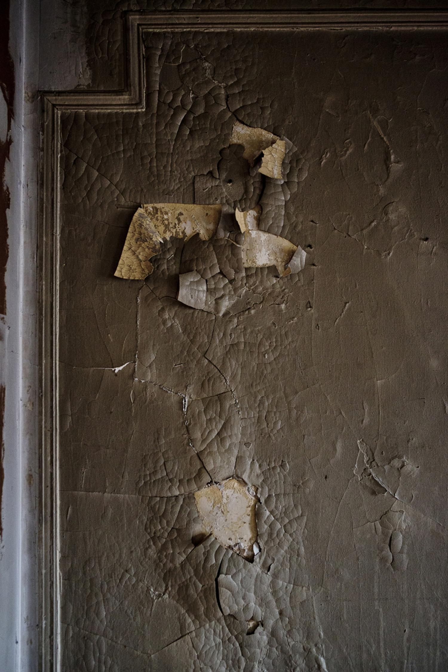 Paint peeling.