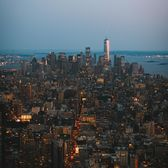 Sunset over Lower Manhattan from Empire State Building