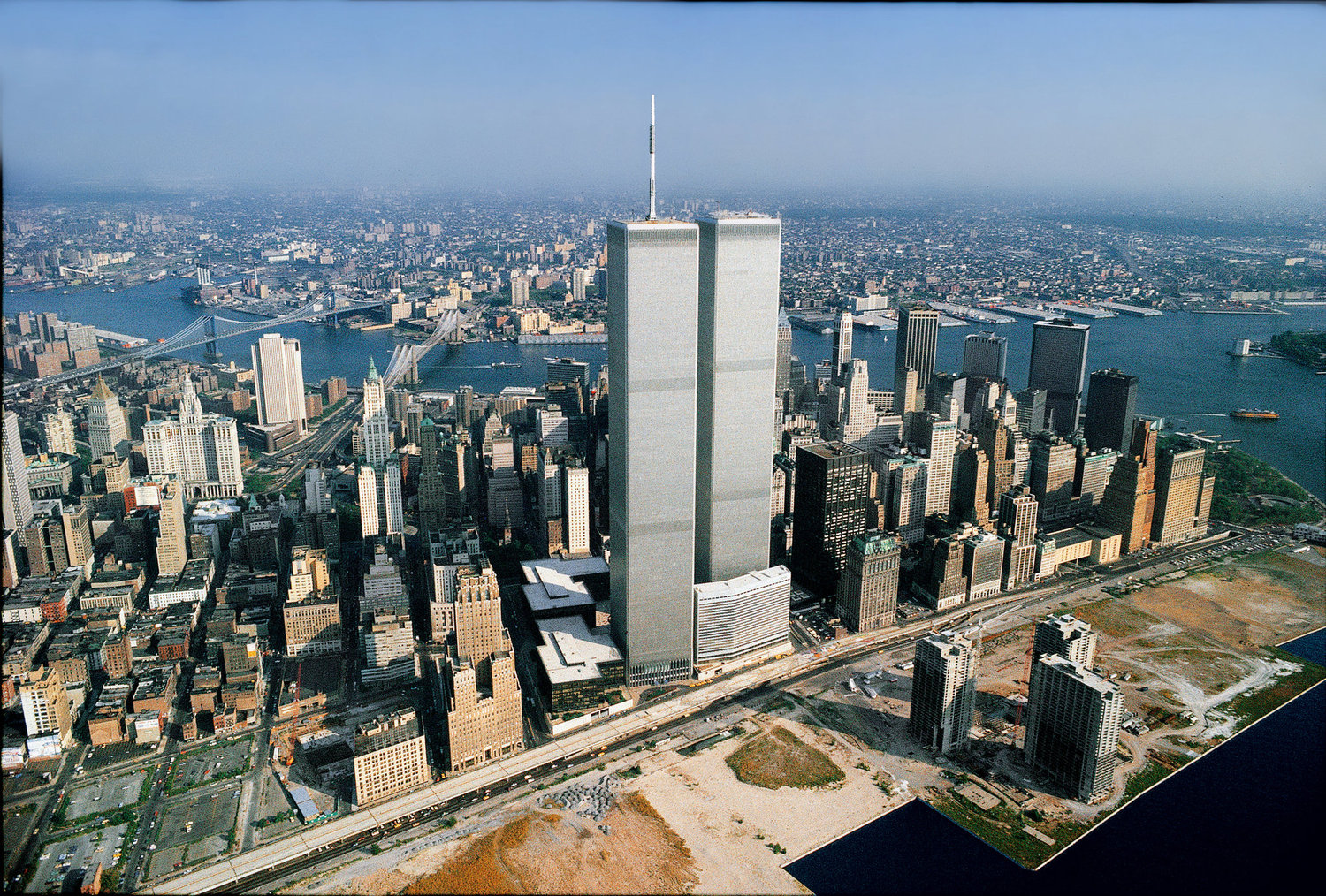 The World Trade Center's Twin Towers in 1982.