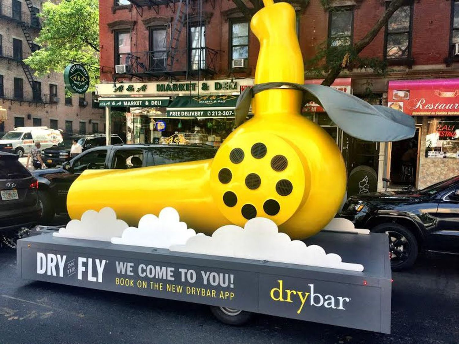 Watch Out for Drybar's Giant Yellow Blowdryers on the Street This Week