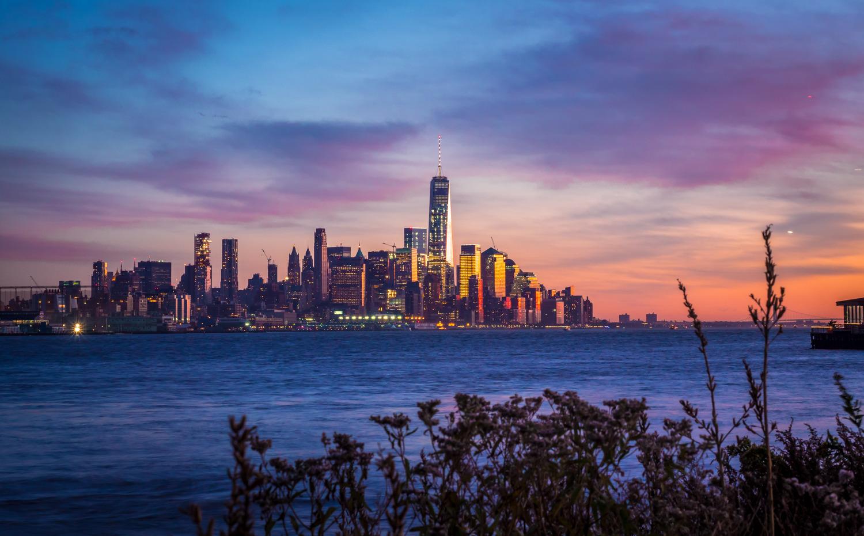 Yesterday's sunset over Lower Manhattan