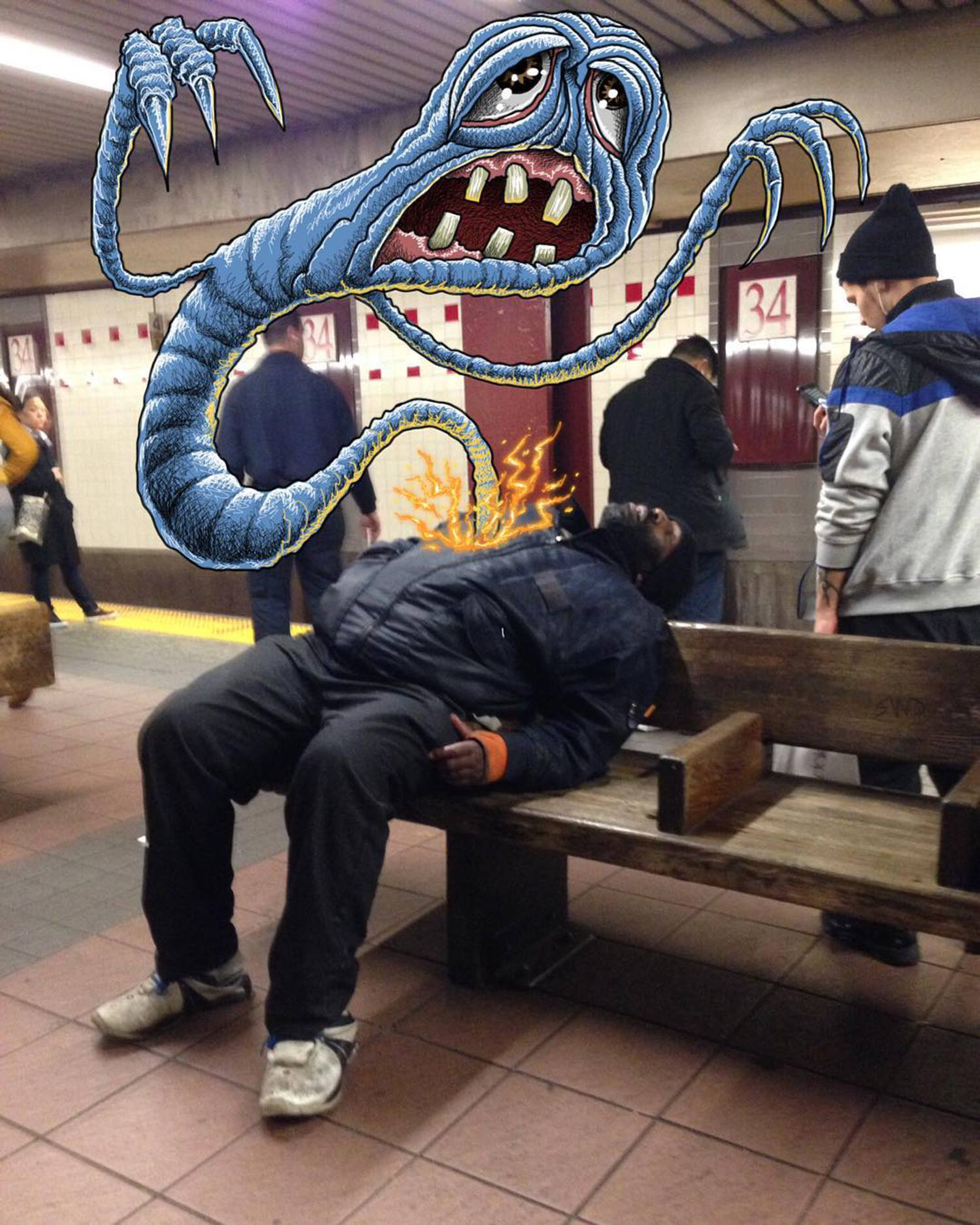 #subwaydoodle #subway #doodle #swd #ghost #nyc #ghostsofnyc #possessed