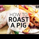 Roasting a Whole Suckling Pig at DBGB's (Vegans Beware)