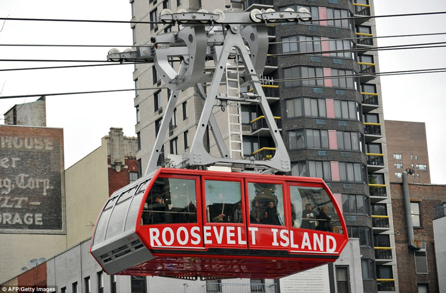 The Roosevelt Island tram is one way to get on and off the island. The island also has one subway stop